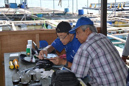 漁業者と和田教授