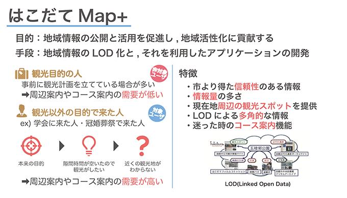 はこだてMap+の説明